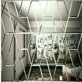 آینه پازل طرح شش ضلعی شکسته