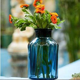 گلدان استوانه طوق دار